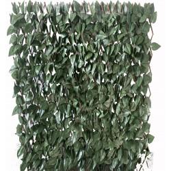 estensibile in salice con foglie lauro h. 100 l. 200 cm