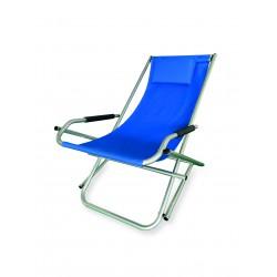 sdraio elba basculante in alluminio e pvc 600d colore blu
