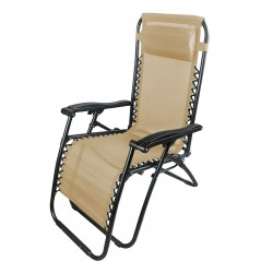 sdraio siesta multiposizione in acciaio nero e textilene 2x1 colore beige