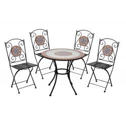 salotto mosaico taormina (1 tavolo 4 sedie pieghevoli)