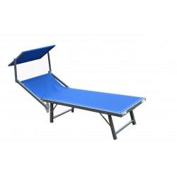 lettino mare ibiza in textilene 580 gr/m² - colore blu