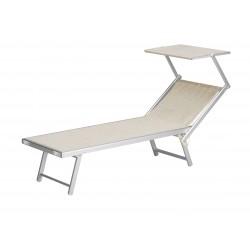 lettino mare deluxe in alluminio e textilene 720 gr/m² - colore beige melange