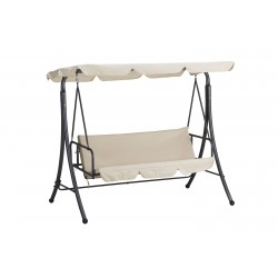 dondolo a letto bali in acciaio verniciato telo in poliestere 180 gr/m² - colore beige