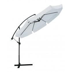 ombrellone ø 3 mt x 3h mt braccio laterale - struttura in acciaio - inclinabile in diverse posizioni - con manovella -