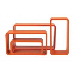 set 4 pz mensola rettangolare stondata arancio