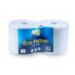 1 coppia rotolo ecofriend 800 strappi carta rigenerata 2 veli ecologica adatta ad uso industriale