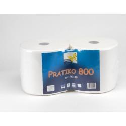 1 coppia rotolo pratiko 800 800 strappi carta di pura cellulosa 2 veli adatta al contatto con alimenti