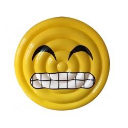 materassino gonfiabile face sorriso con denti ø 150 cm ca.