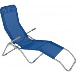 sdraio formentera basculante in acciaio e textilene 450 gr/m² - colore blu