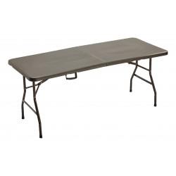tavolo rettangolare pieghevole horeca noce 183x76x74h cm