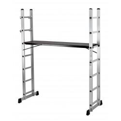 trabattello alluminio everest 6 gradini multiposizione h. 168 p. 40 l. 160 portata max. 120 kg