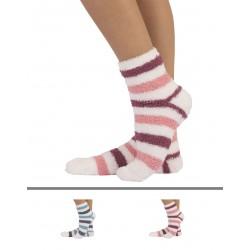 calzini invernali a righe in pile