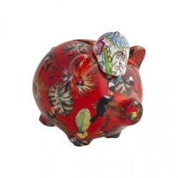 Salvadanaio decorativo - sopramobile a maialino - serie dolomite