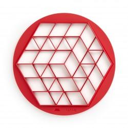 Tagliapasta, stampini e utensili impasto: Tagliasfoglia per fingerfood rosso