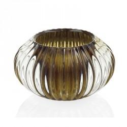 Lanterne e portacandele: Porta candele vetro marrone