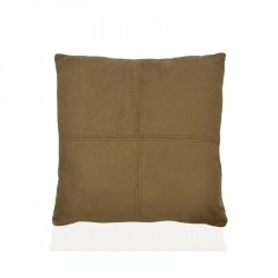 Cuscino 45 x 45 cm vellutato effetto daino - colore cammello