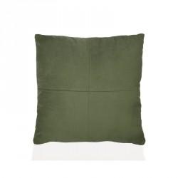 Cuscino 45 x 45 cm vellutato effetto daino - colore verde