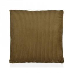Cuscino 45 x 45 cm a trama tessuta corderoy (coste) colore beige scuro