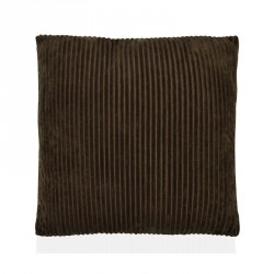 Cuscino 45 x 45 cm a trama tessuta corderoy (coste) colore marrone