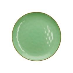 Piatto piano colore verde acqua - collezione concerto