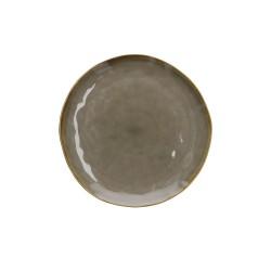 Piatto piano colore grigio tortora - collezione concerto
