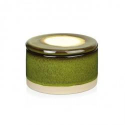 Complementi ad appoggio: Scatola laccata ceramica verde