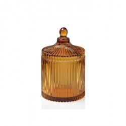 Scatola di vetro effetto ambra