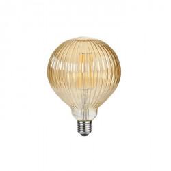 Lampada vintage - texture rigata - luce led effetto ambra