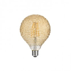 Lampada vintage - texture buccia arancia - luce led effetto ambra