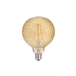 Lampada vintage - texture rombo - luce led effetto ambra