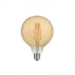 Lampada vintage - texture rombo grande - luce led effetto ambra