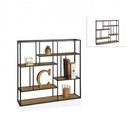 Mensole: Mensola quadrata in legno e metallo mu68289