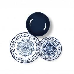 Servizio di piatti: Boheme blue servizio tavola piatti 18 pz