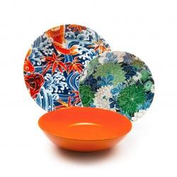 Servizio di piatti: Kimono servizio tavola piatti 18 pz
