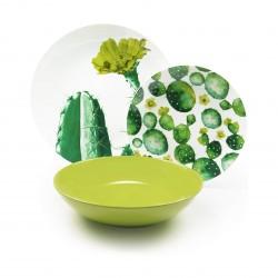 Servizio di piatti: Cactus servizio tavola piatti 18 pz
