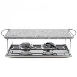 Fondute: Grill da tavolo in pietra naturale 25x40 cm 100138