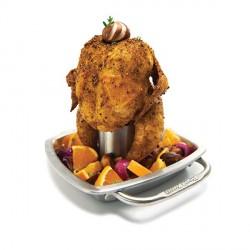 Accessori barbecue: Supporto cuoci pollo con tegame