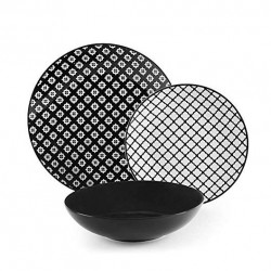 Servizio di piatti: Monochrome servizio tavola piatti 18 pz
