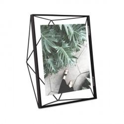 Portofato geometrico con cornice 20x25 - finitura nero - serie prisma