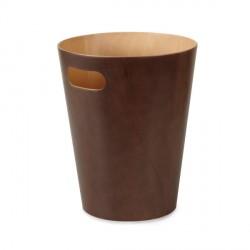 Cestino per carte color espresso - line/series woodrow