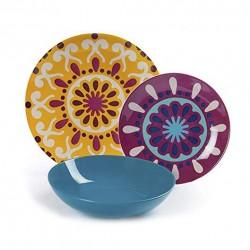 Servizio di piatti: Mandala etno servizio tavola piatti 18 pz