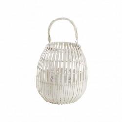 Lanterne e portacandele: Lanterna bamboo white 25x40h