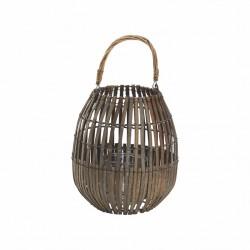 Lanterne e portacandele: Lanterna bamboo grey 25x40h