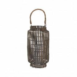 Lanterne e portacandele: Lanterna in bamboo grey 20x54h