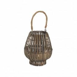 Lanterne e portacandele: Lanterna bamboo grey 20x39h