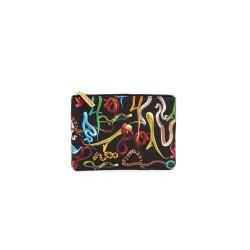 Astuccio porta oggetti - stampa fantasia snakes - size 21x15,5 cm - serie toiletpaper