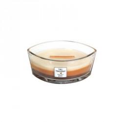 Candela con tripla essenza profumata: ellipse cafe' sweets
