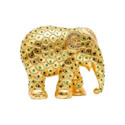 Elefantino d'autore - arte ayutthaya gold - h cm 10 - statuetta solidale