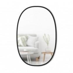 Specchiera forma ovale 45x60 profilo black - serie hub