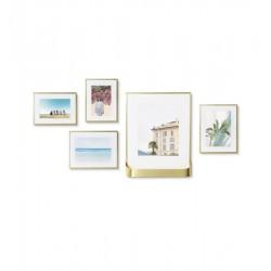 Complementi a muro: Matinee set 5 portafoto da parete mat bras